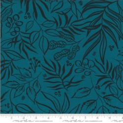 "Leaf it to me Knit Prints 60"" -  TEAL"