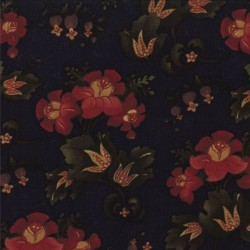 GATHERED BLOOMS - NAVY