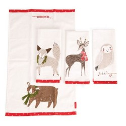 "MERRIMENT TEA TOWELS (SET OF 4) 17"" x 28"""