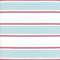 "18"" Cotton Tea Towelling Stripe - SEAGLASS"