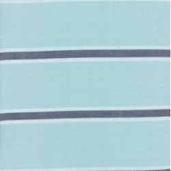 "60"" Cotton Towelling Stripe - SEAGLASS"