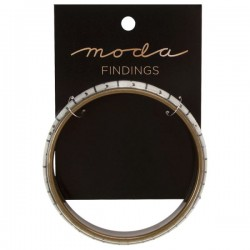 Moda Jewellery - Bangle-TapeMeasure-WHITE