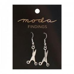 Moda Jewellery - Earrings-Scissor-SILVER
