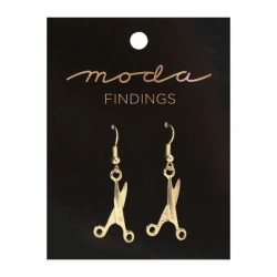 Moda Jewellery - Earrings-Scissor-GOLD