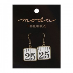 Moda Jewellery - Earrings-Tape Measure