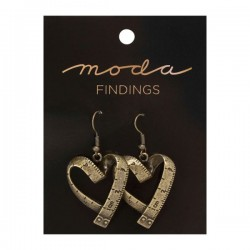Moda Jewellery - Earrings-Vintage Heart