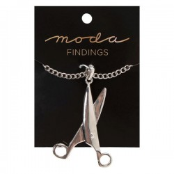 Moda Jewellery - Necklace-Scissor-SILVER