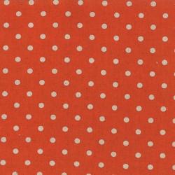 Linen Mochi Dot - TANGERINE