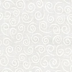 Muslin Mates Basics- SWIRLS-WHITE ON WHITE