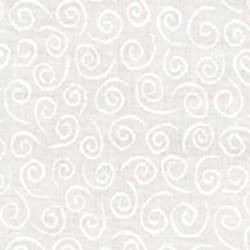 Muslin Mates Basics- SWIRLS-WHITE ON WHITE
