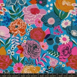 "108"" Wide Bloom Sateen - BRIGHT BLUE"
