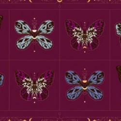 Gossamer panel (60cm) -  PURPLE VELVET