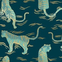 Tigress - DARK TEAL