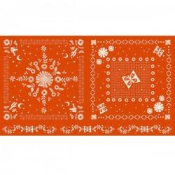 Bandana Panel (60cm) - WARM RED