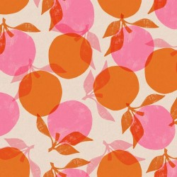 Peaches Cotton Linen (70/30) - ORANGE