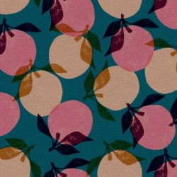 Peaches Cotton Linen(70/30) - TEAL