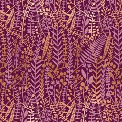 Floral Tapis - PURPLE VELVET METALLIC
