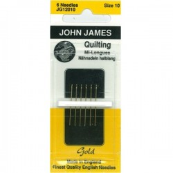 JJ Needles - Gold Plated - QUILTING #10 (6x)