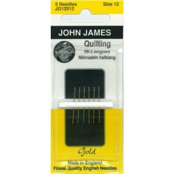 JJ Needles - Gold Plated - QUILTING #12 (6x)