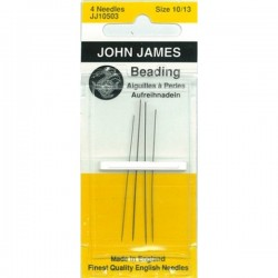 JJ Needles - BEADING (Multi Size) #10/12 (4x)