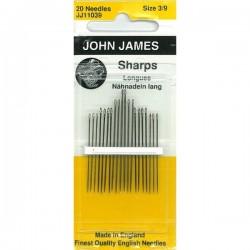 JJ Needles - Sharps (Multi Size) - GENERAL PURPOSE #3/9 (20x)