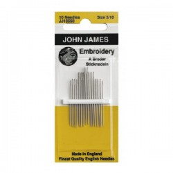 JJ Needles - EMBROIDERY (Multi Size) #5/10 (16x)