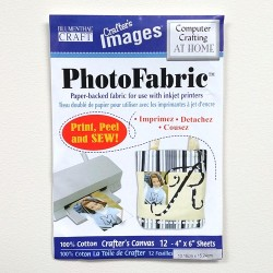 "Photo Fabric Paper - CANVAS -6""x4"" (12sheets)"