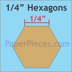 "HEXAGON 1/4"" PAPER PIECES (200)"