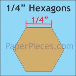 "HEXAGON 1/4"" PAPER PIECES (200)"