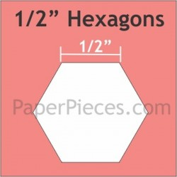 "HEXAGON 1/2"" PAPER PIECES (125)"