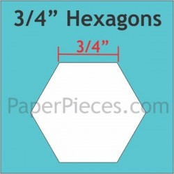 "HEXAGON 3/4"" PAPER PIECES (125)"