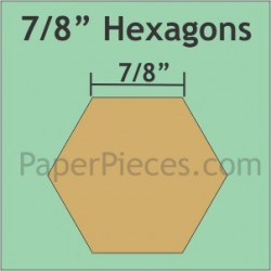 "HEXAGON 7/8"" PAPER PIECE PK (72)"