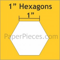 "HEXAGON 1"" PAPER PIECES (100)"