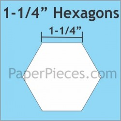 "HEXAGON 11/4"" PAPER PIECES (75)"