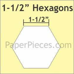 "HEXAGON 1.5 "" PAPER PIECES (50)"