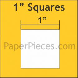 """Squares 1"""" Paper Pieces (150)"""
