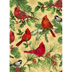 Christmas Cardinals - TAN