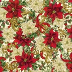 Packed Poinsettia - CREAM