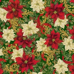 Packed Poinsettia - FOREST