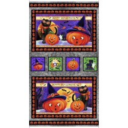 Panel - Halloween Picture Patches 60cm - GRAY