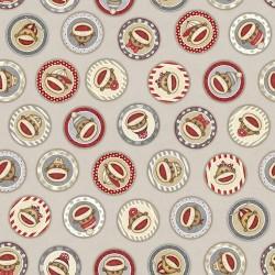 Sock Monkey Circles - LT TAUPE