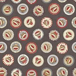 Sock Monkey Circles - TAUPE