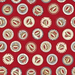 Sock Monkey Circles - RED