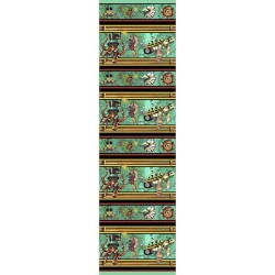 Aquatic Steampunk Stripe - AQUA