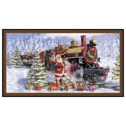Panel - Santa & Train 60cm - MULTI