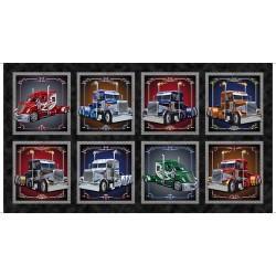 Panel - Semi Truck Picture  Patches 60cm - BLACK
