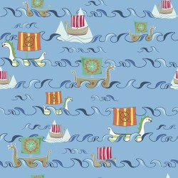 Viking Boats & Water - BLUE