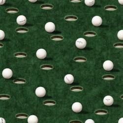 Golf Balls & Holes - DK GREEN
