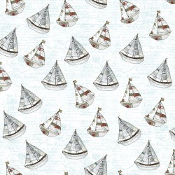 Large Sailboats - WHITE