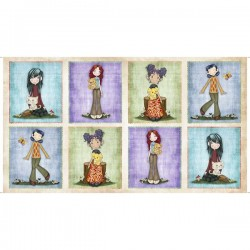 Panel - Girl Picture Patches 60cm - CREAM